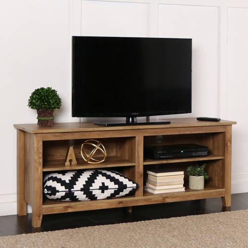 Image Is Loading Rustic Wood TV Stand Drift Entertainment Center Media