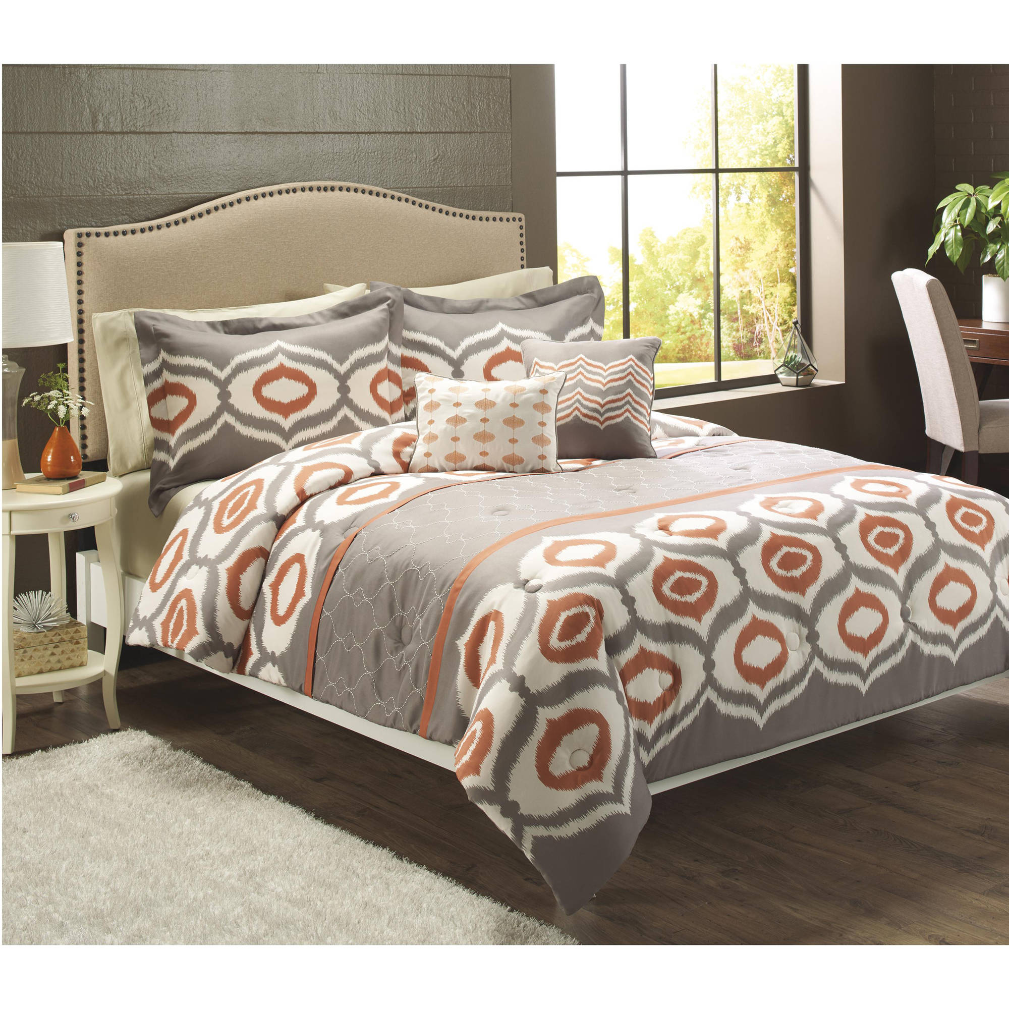 Better Homes And Gardens Ikat Trellis 5 Piece Bedding Set