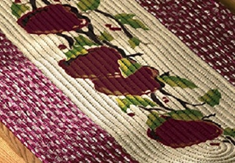 Braided Apple Kitchen Rug Runner