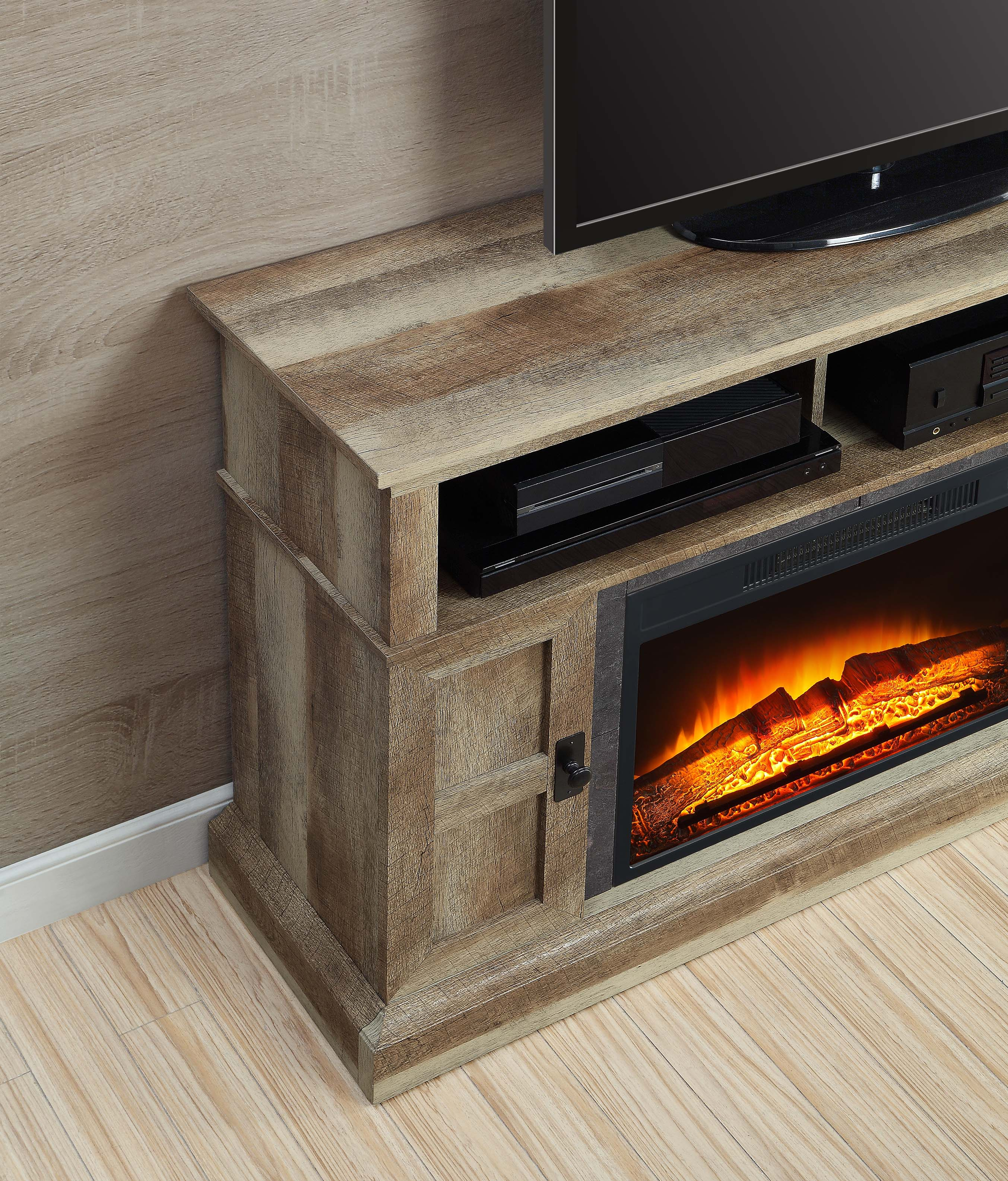 Whalen Media Fireplace Console For Tvs Up To 55 Quot Dark