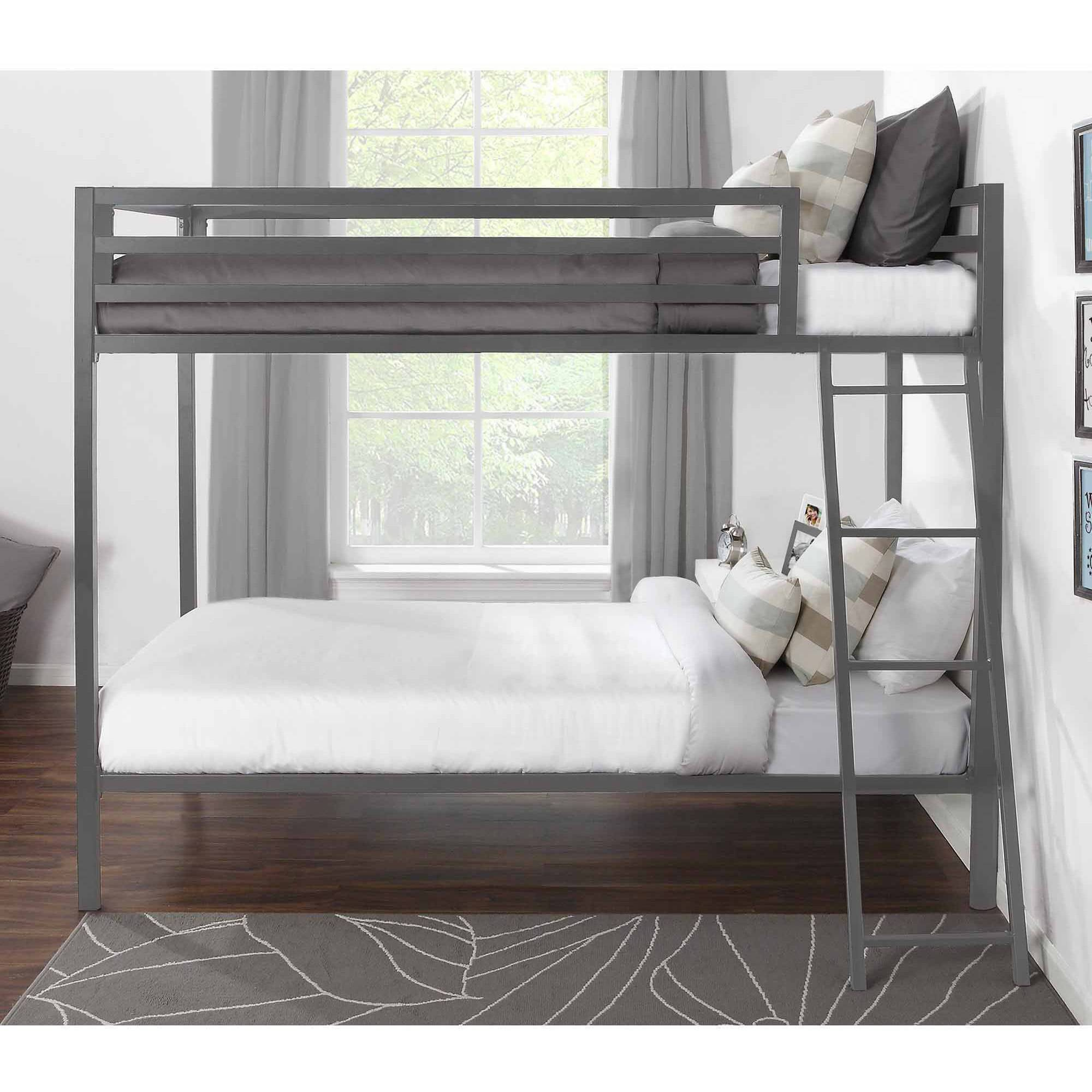 Mainstays Premium Metal Twin over Twin Bunk Bed Multiple Colors