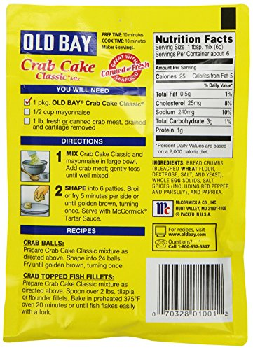 What Is In Old Bay Crab Cake Mix