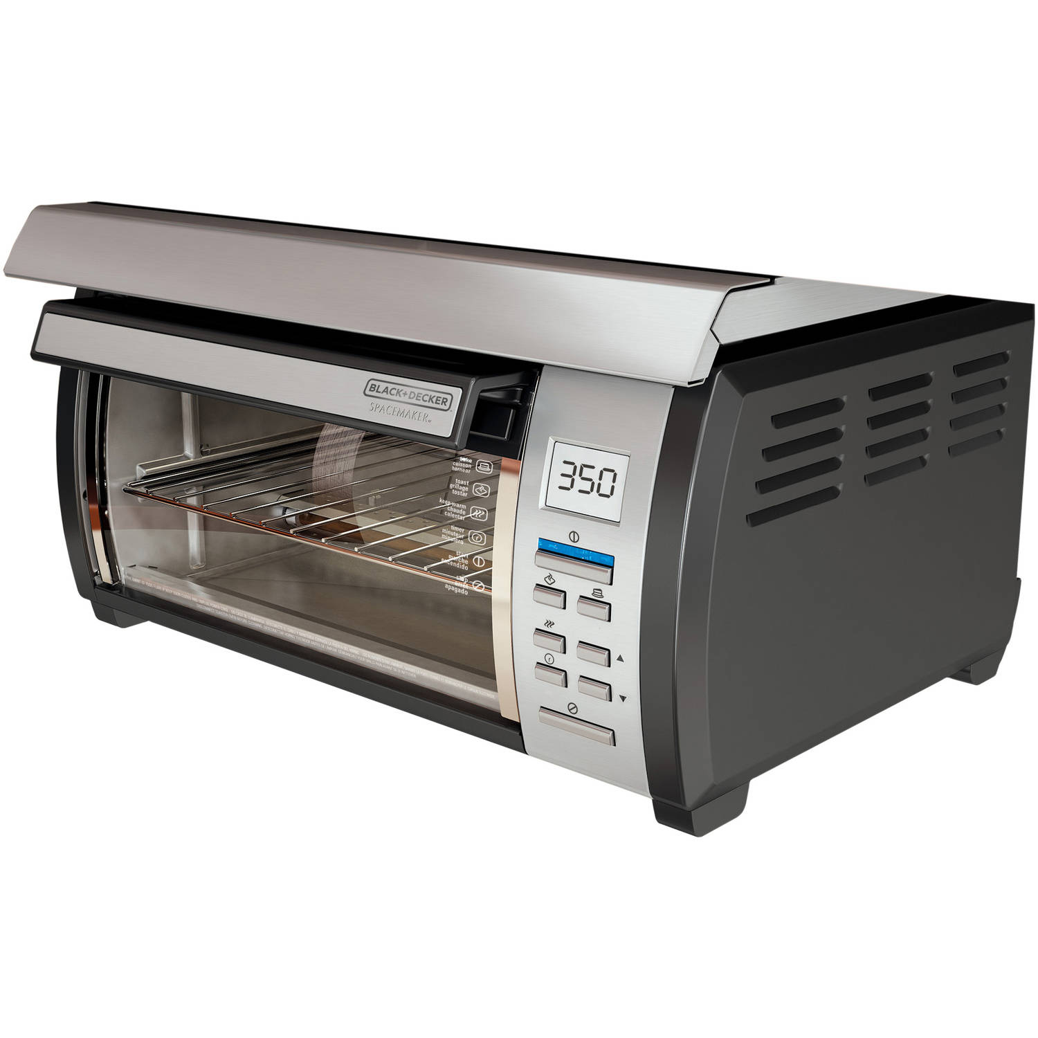 BLACK+DECKER Spacemaker Toaster Oven, Black and Stainless ...
