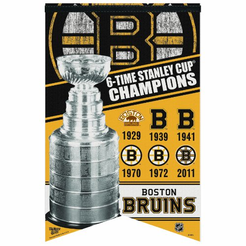 NHL Boston Bruins Six Time Stanley Cup Champions 17-by-26