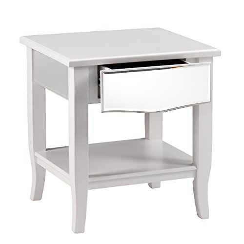Dontos Industrial Kitchen Cart Southern Enterprises: Southern Enterprises Mabel Mirrored End Table, White