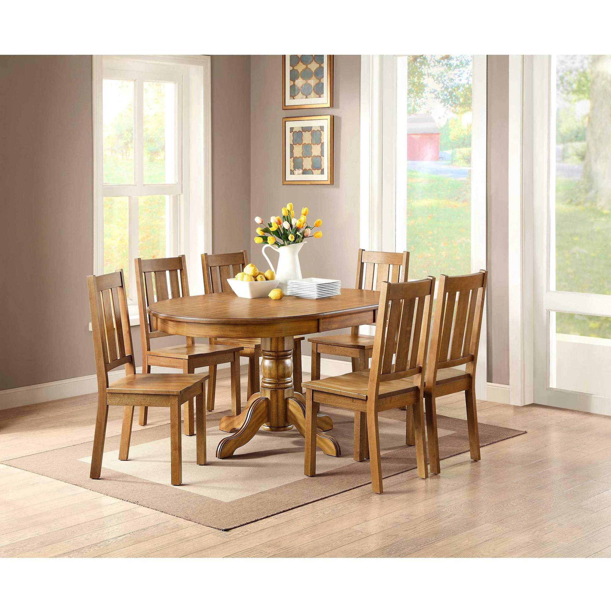 Better Homes And Gardens Bankston Dining Chair Set Of 2 Honey Ebay
