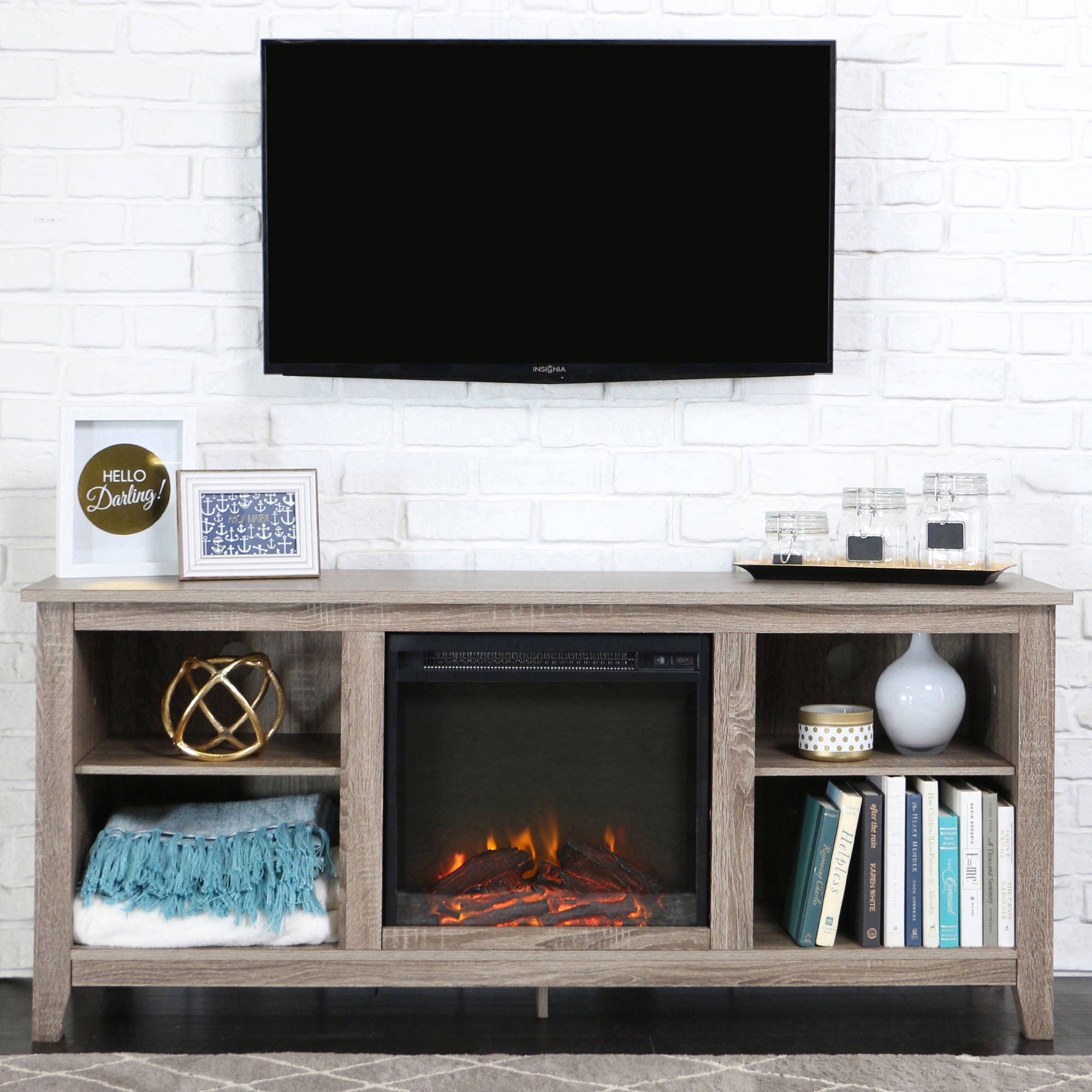 ip real electric flame en stand fireplace fresno tv white in stands