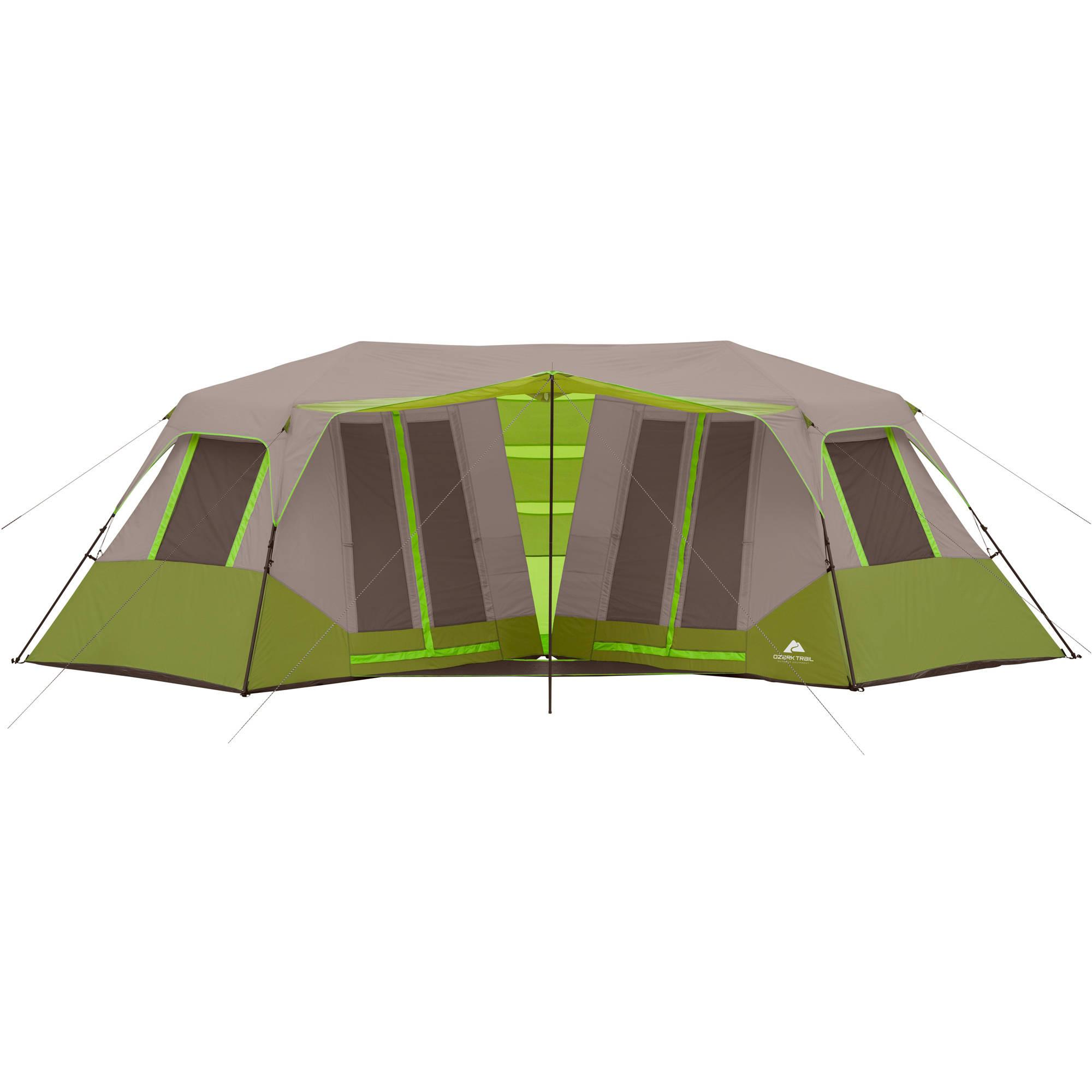 Ozark trail 8 person instant double villa cabin tent for Tent cottage