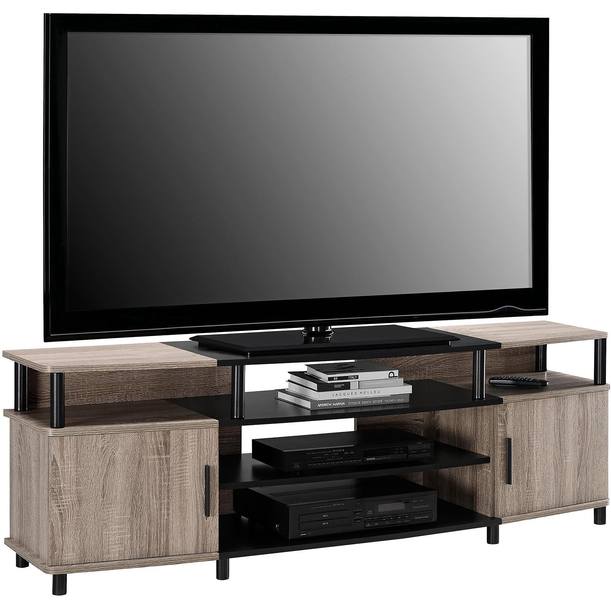 Ameriwood Home Carson Tv Stand For Tvs Up To 70 Wide Cherry Ebay # Muebles Rack Para Tv