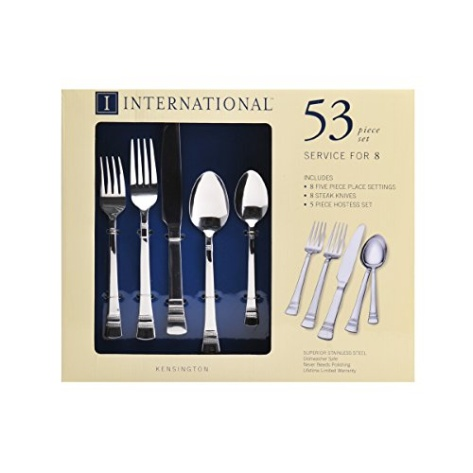 International silver kensington stainless steel flatware for Kitchen 482 kensington