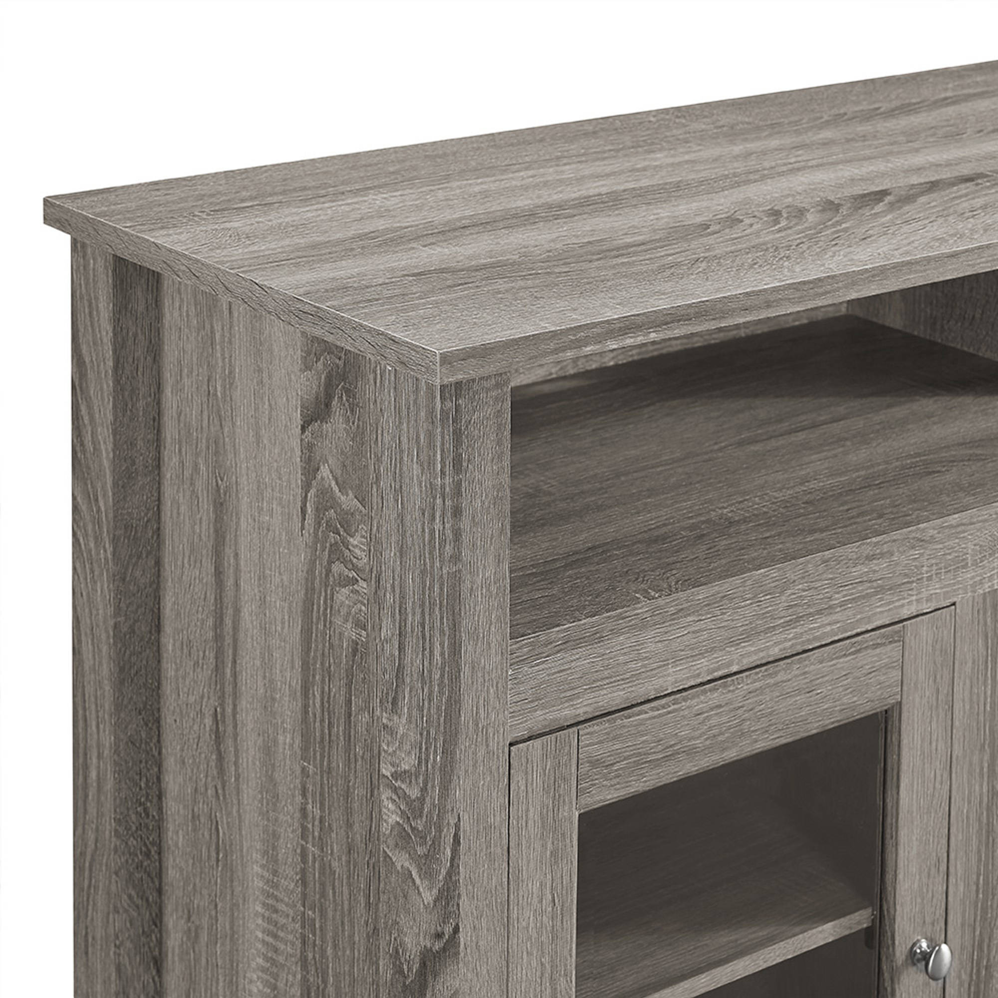 58 Wood Highboy Fireplace Tv Stand For Tvs Up To 60 Multiple