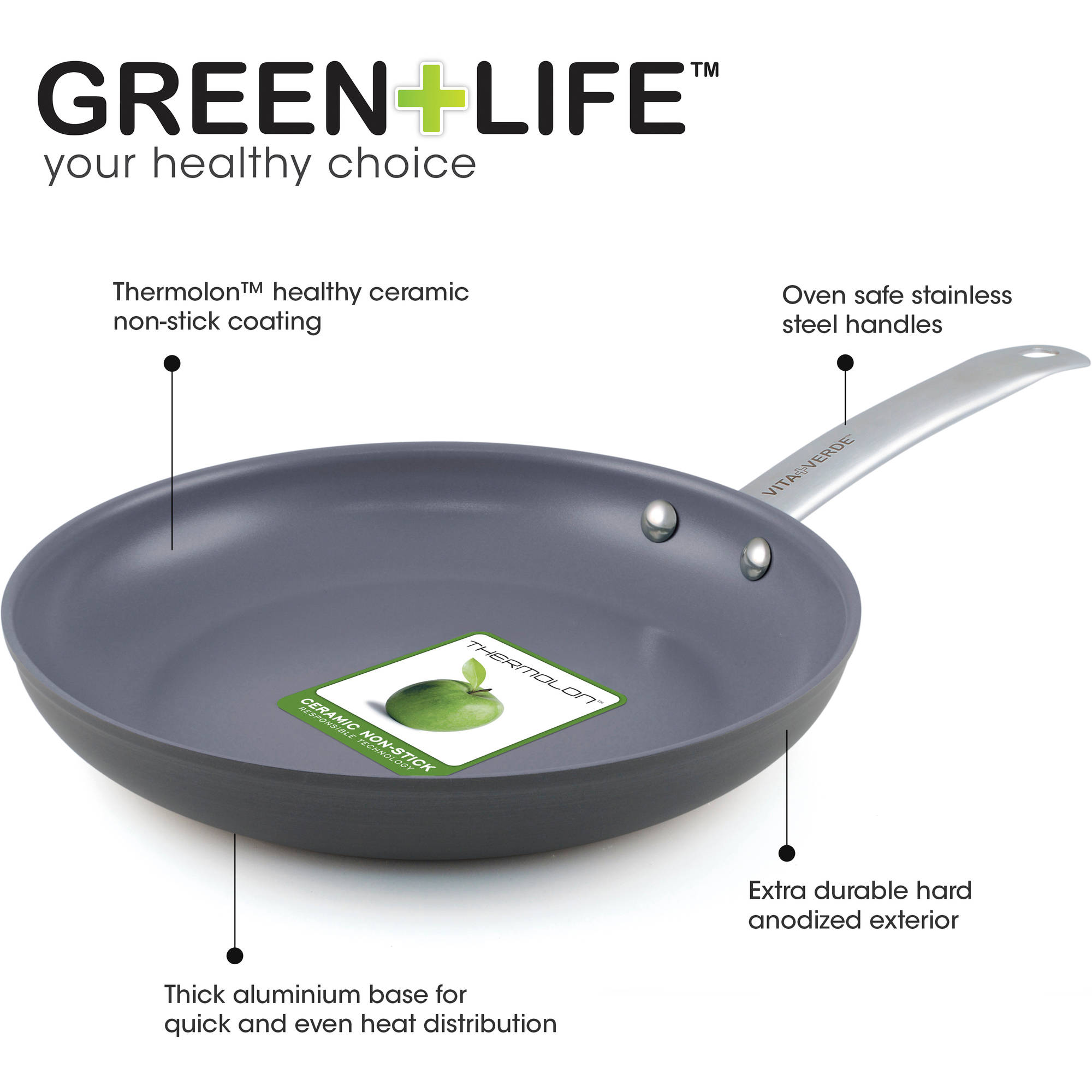 Greenlife Healthy Ceramic Non Stick 12 Piece Gourmet Hard
