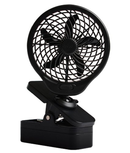 o2cool 5 battery operated clip fan grey. Black Bedroom Furniture Sets. Home Design Ideas
