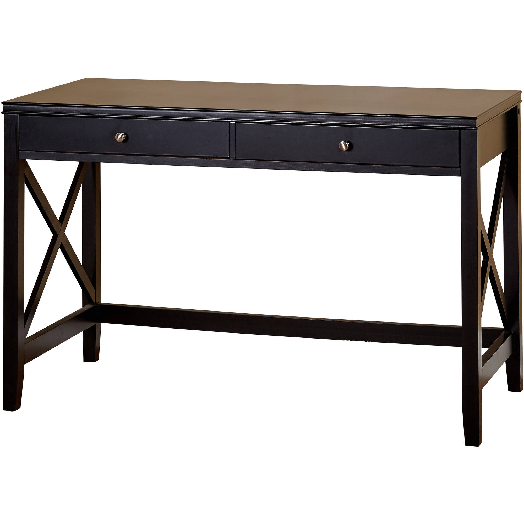 X Desk With Two Drawers Multiple Colors Ebay