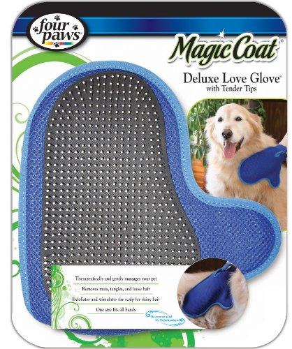 four paws magic coat dog grooming deluxe love glove with tender t