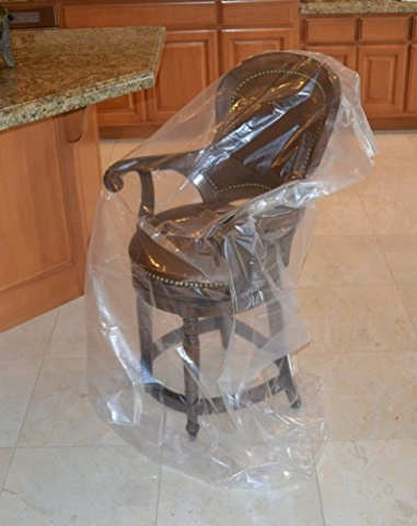 Plastic Chair Moving Covers 2 Bags 46 X 76 Mbx 55