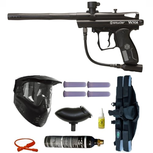 Spyder Victor Paintball Marker Gun 3Skull 4+1 9oz Mega Set ...