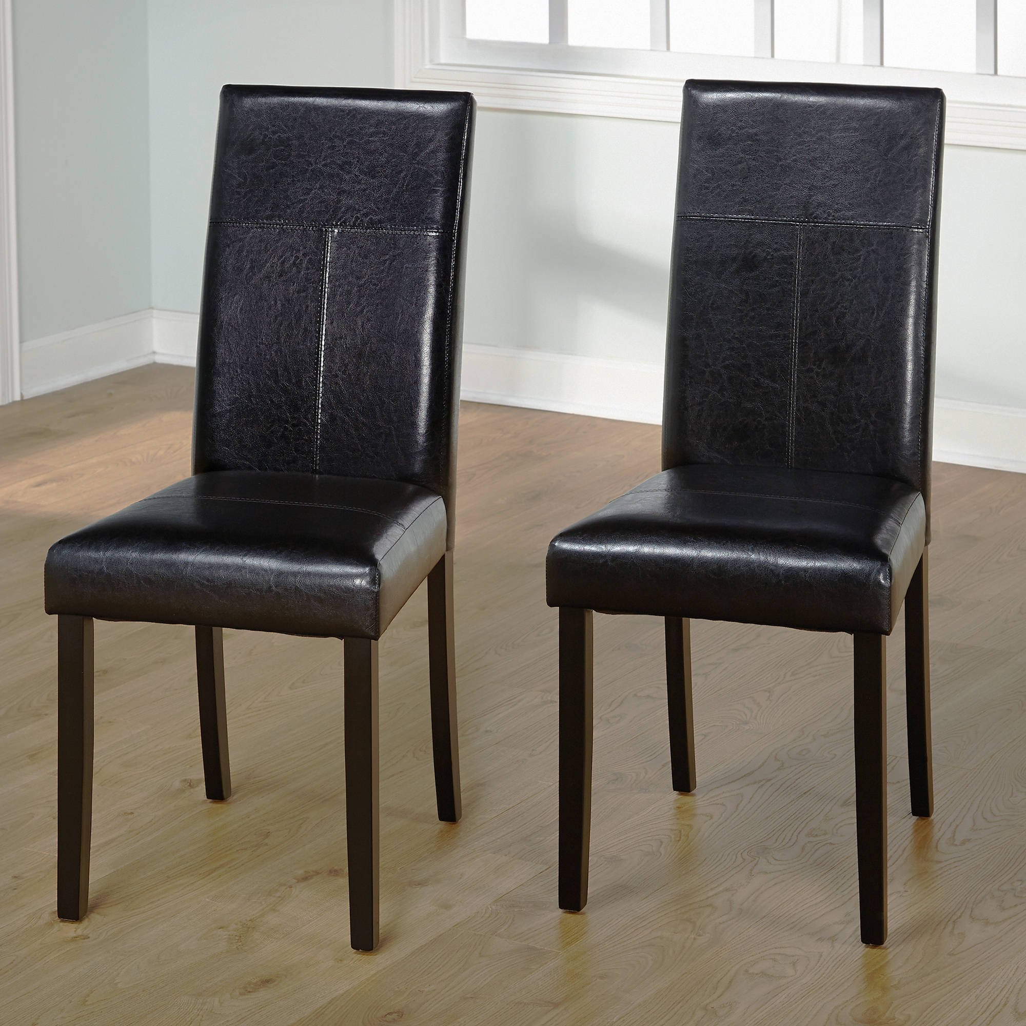 Leather Dining Set: Faux Leather Parson Dining Chair, Set Of 2