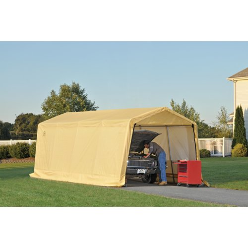 Replacement Covers Shelter Garage 120 240 : Shelterlogic feet new auto shelter tan