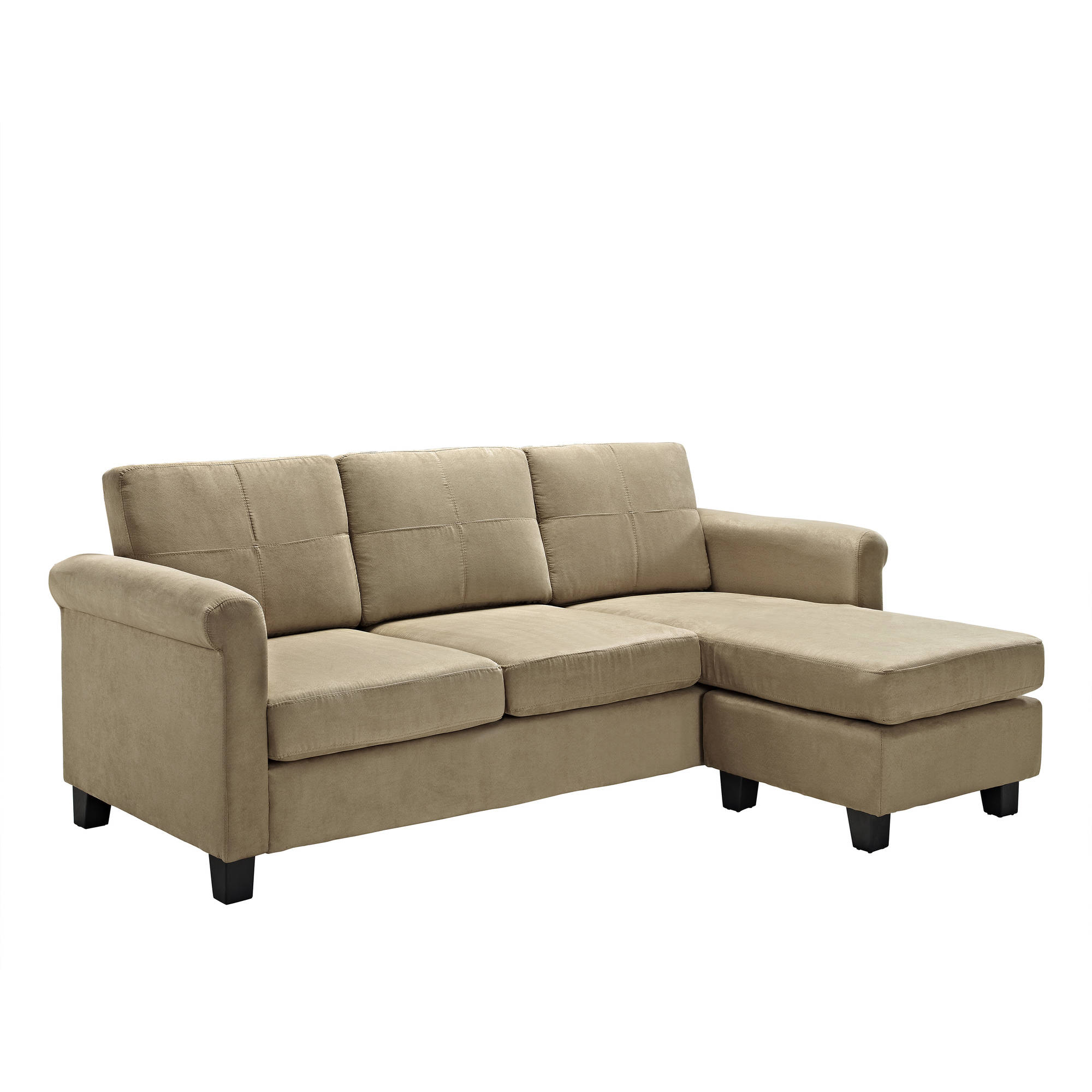 Sectional Sofas For Large Spaces: Dorel Living Small Spaces Configurable Sectional Sofa