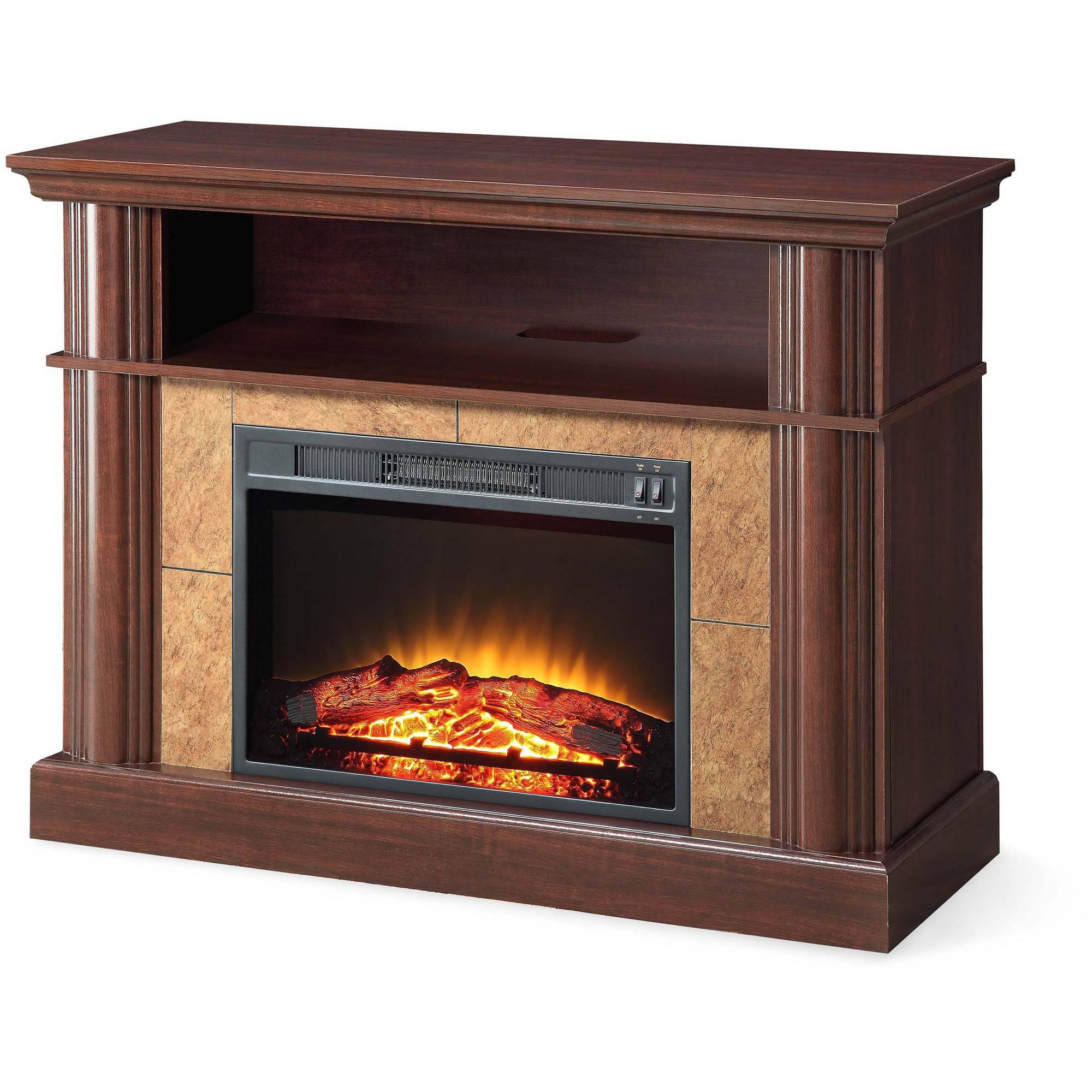 Better Homes and Gardens Cherry Media Fireplace for TVs up to 54 ...