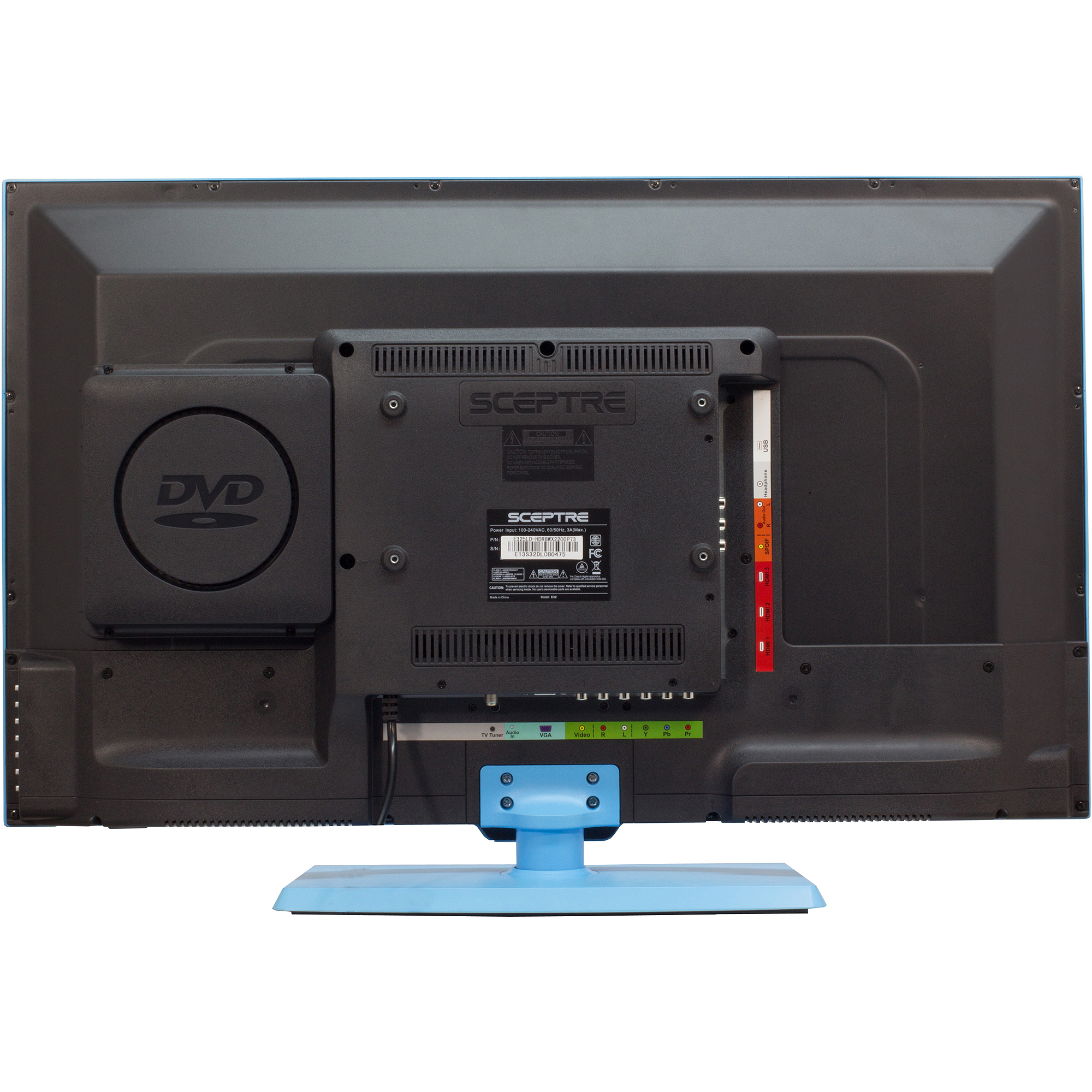 sceptre 32 720p 60hz class led hdtv with built in dvd player assorted colors ebay. Black Bedroom Furniture Sets. Home Design Ideas