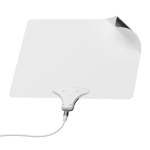 mohu paper thin leaf indoor hdtv antenna The mohu antenna itself is just a little larger than a sheet of paper, at 11″ x 9″ and feels like thin plastic (the one shown above is an older version that mohu leaf 30 tv antenna, indoor, 30 mile range, original paper-thin, reversible, paintable, 4k-ready hdtv, 10 foot detachable cable, premium.