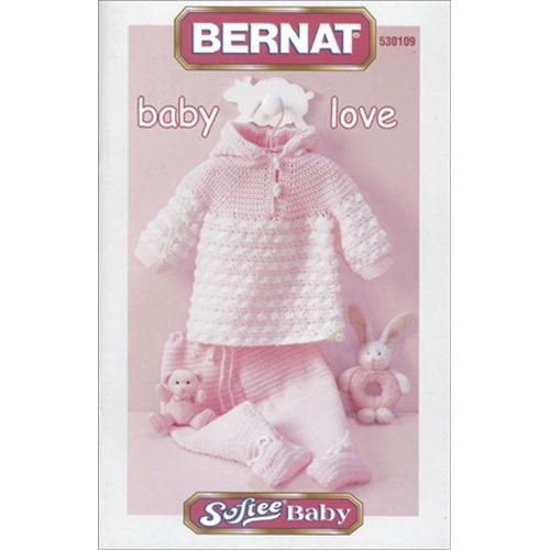 Spinrite Bernat Knitting and Crochet Patterns, Baby Love-Softee B