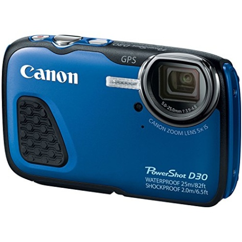Canon Powershot D30 Waterproof Digital Camera Blue