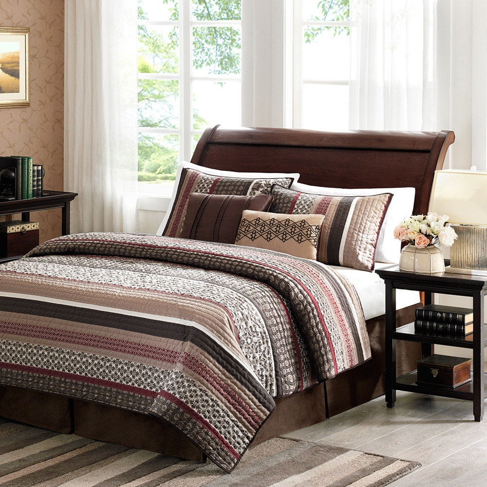 Elegant Home Essence Cambridge 5 Piece Bedding Quilted Coverlet