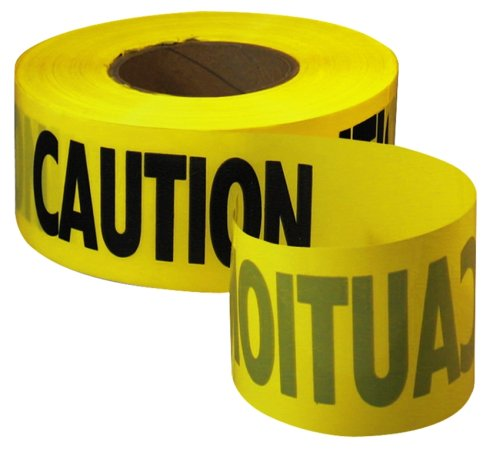 empire level 71 1001 1000 feet by 3 inch caution barricade tape. Black Bedroom Furniture Sets. Home Design Ideas