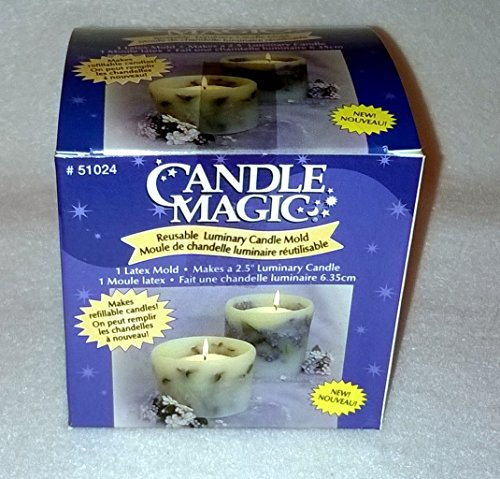 Candle magic reusable luminary candle mold 2 5 inch votive for Reusable luminaries