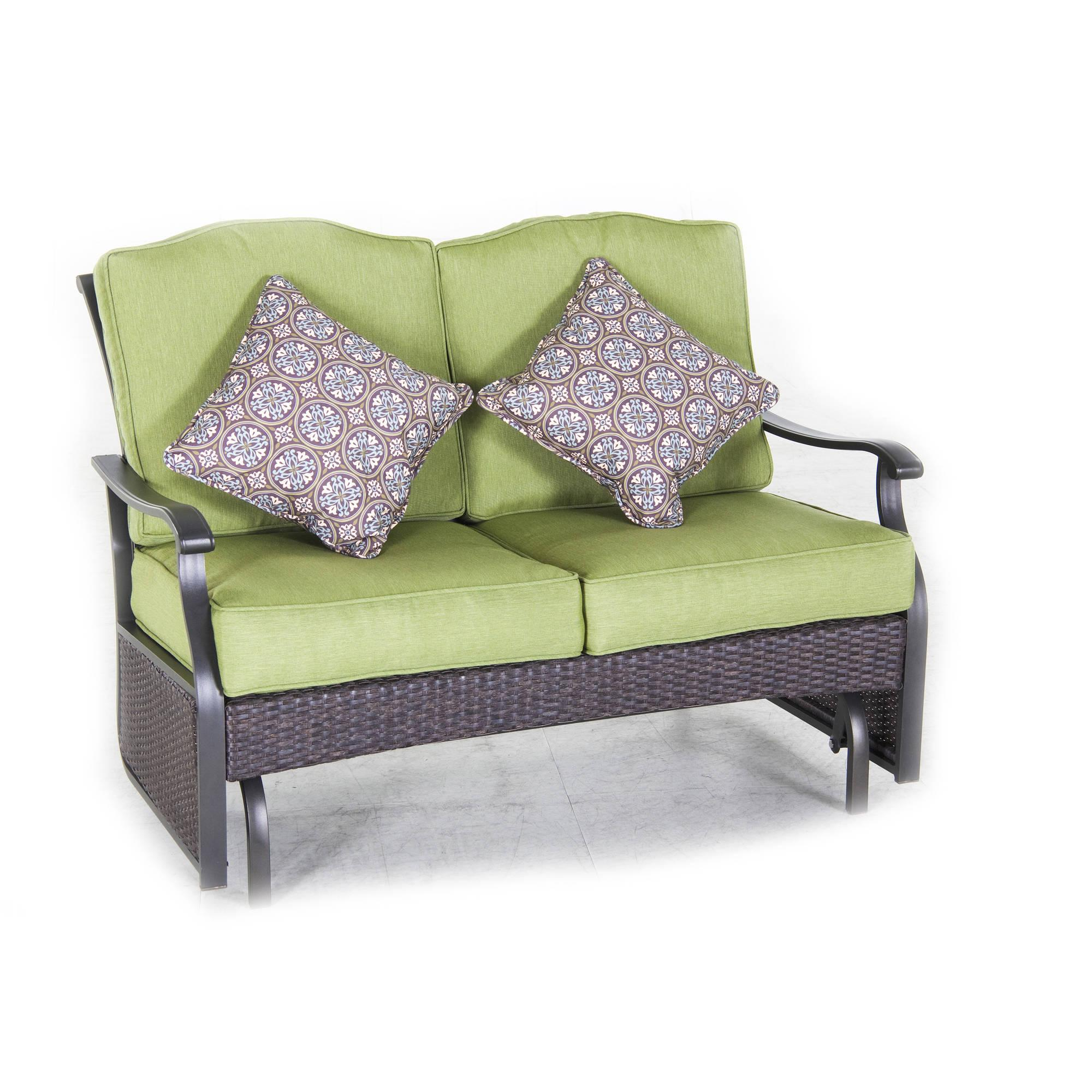 Better Homes and Gardens Providence Outdoor Glider Bench, Green ...