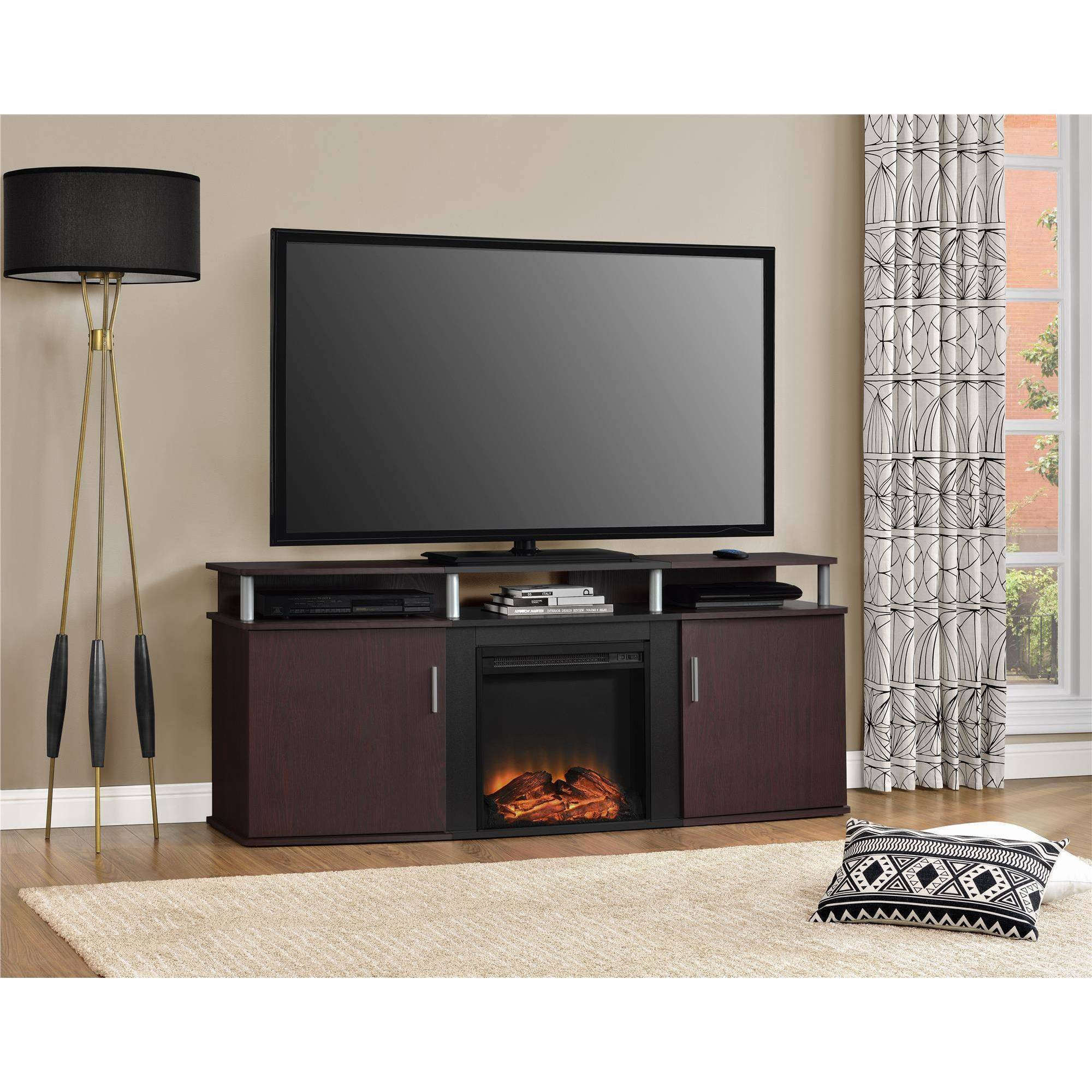 Image Is Loading Carson Fireplace TV Console For TVs Up To