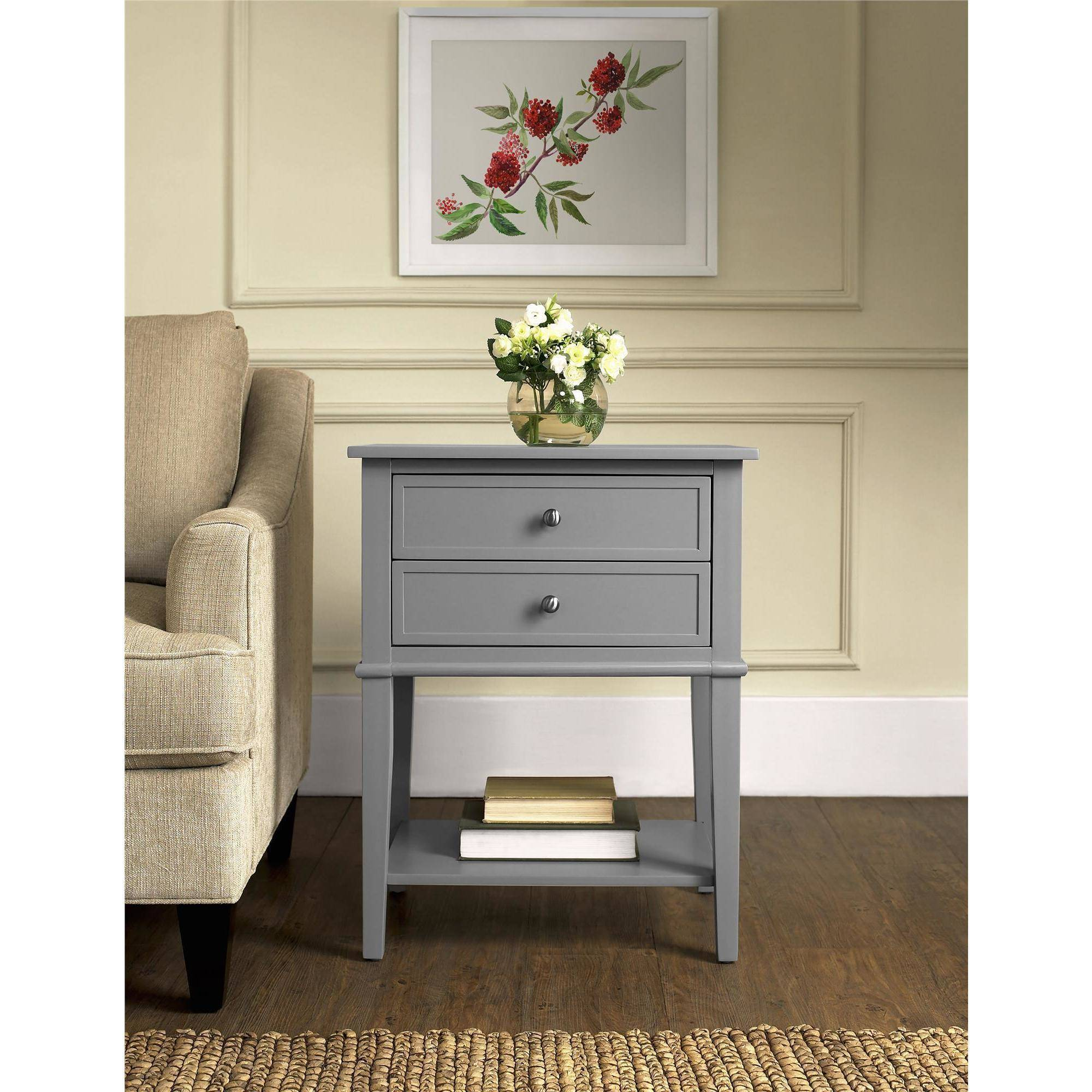 Image Is Loading Altra Furniture Franklin  Drawer Accent Table Multiple