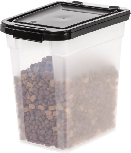 iris airtight pet food container 10 pound clear black 431 price $ 18 ...