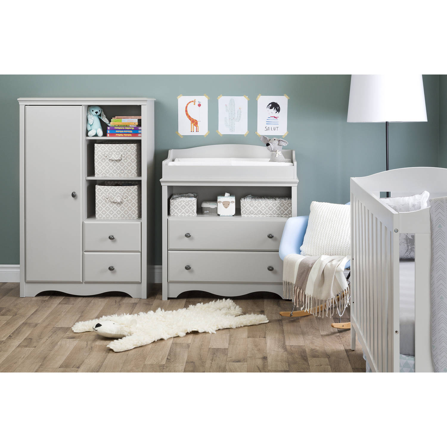 Superior South Shore Angel Changing Table With Drawers Multiple