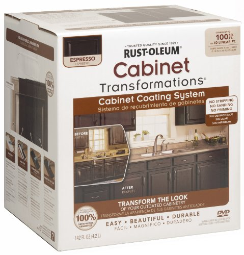 Rust oleum 263231 cabinet transformations small kit espresso for Best brand of paint for kitchen cabinets with metal ship wall art