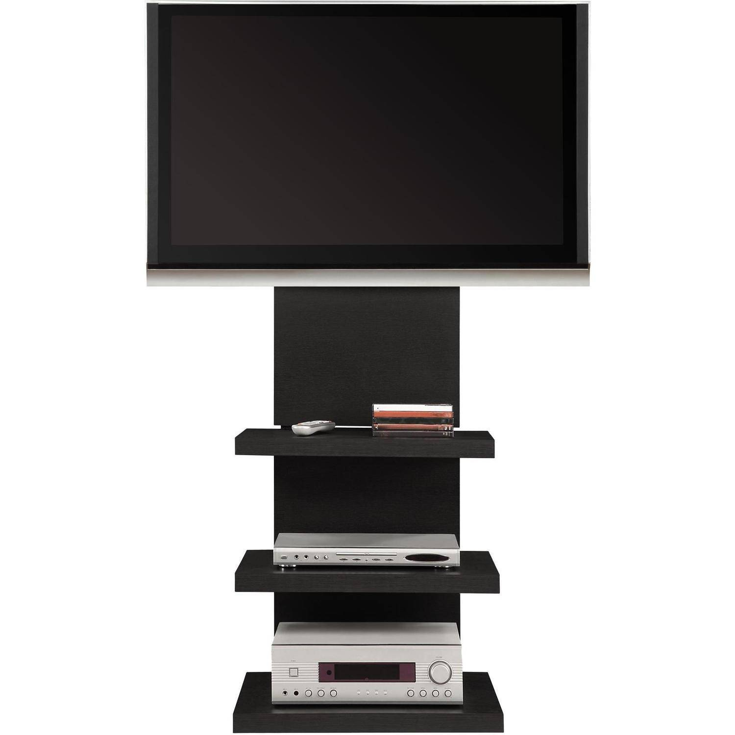 Altra-Wall-Mount-TV-Stand-with-3-Shelves- - Altra Wall Mount TV Stand With 3 Shelves, For TVs Up To 60