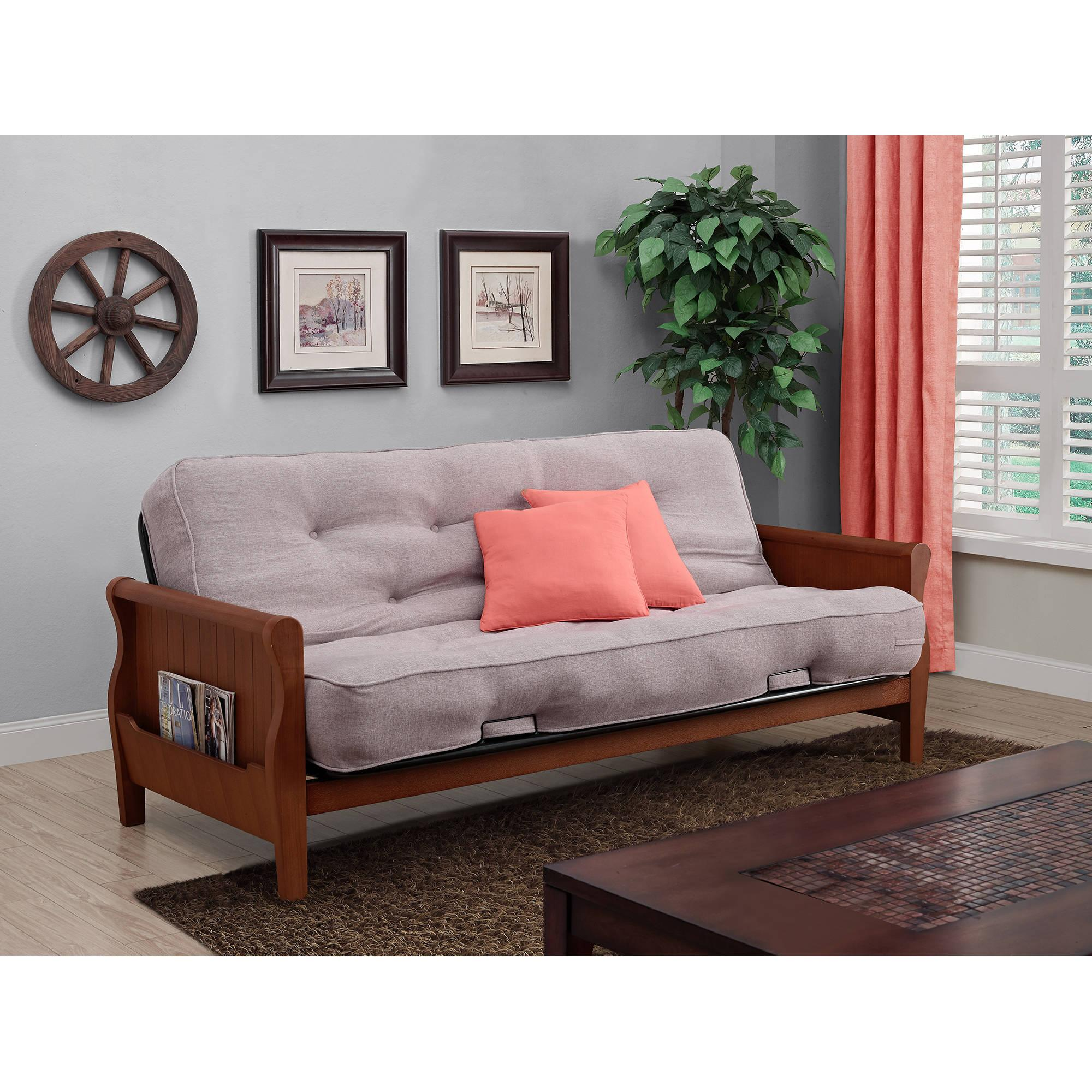 Better Homes and Gardens Wood Arm Futon with 8034 Independently