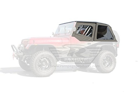 rampage 109435 frameless soft top kit with door skins and