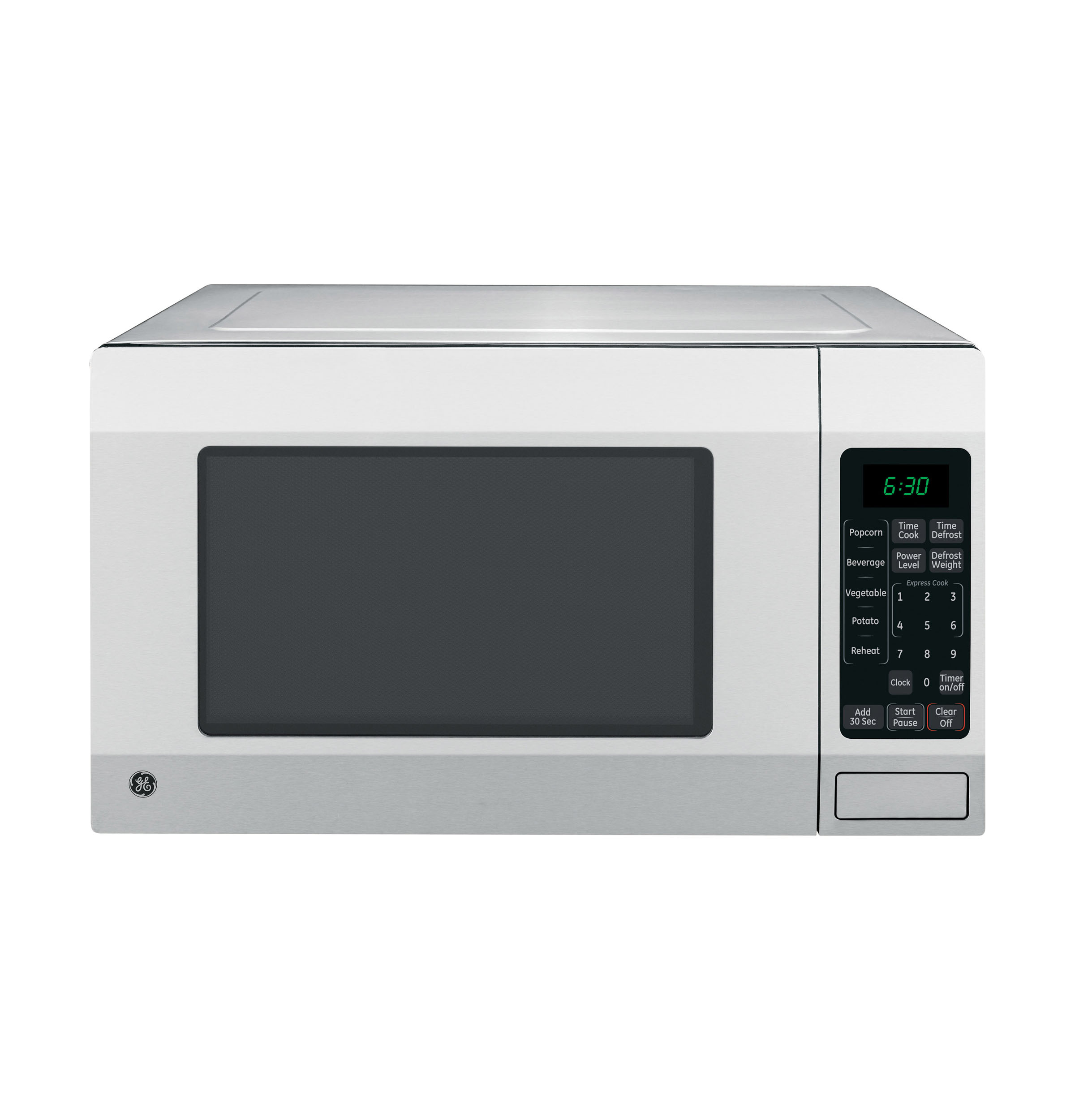 Ge 1 6 Cu Ft Countertop Microwave Oven Stainless