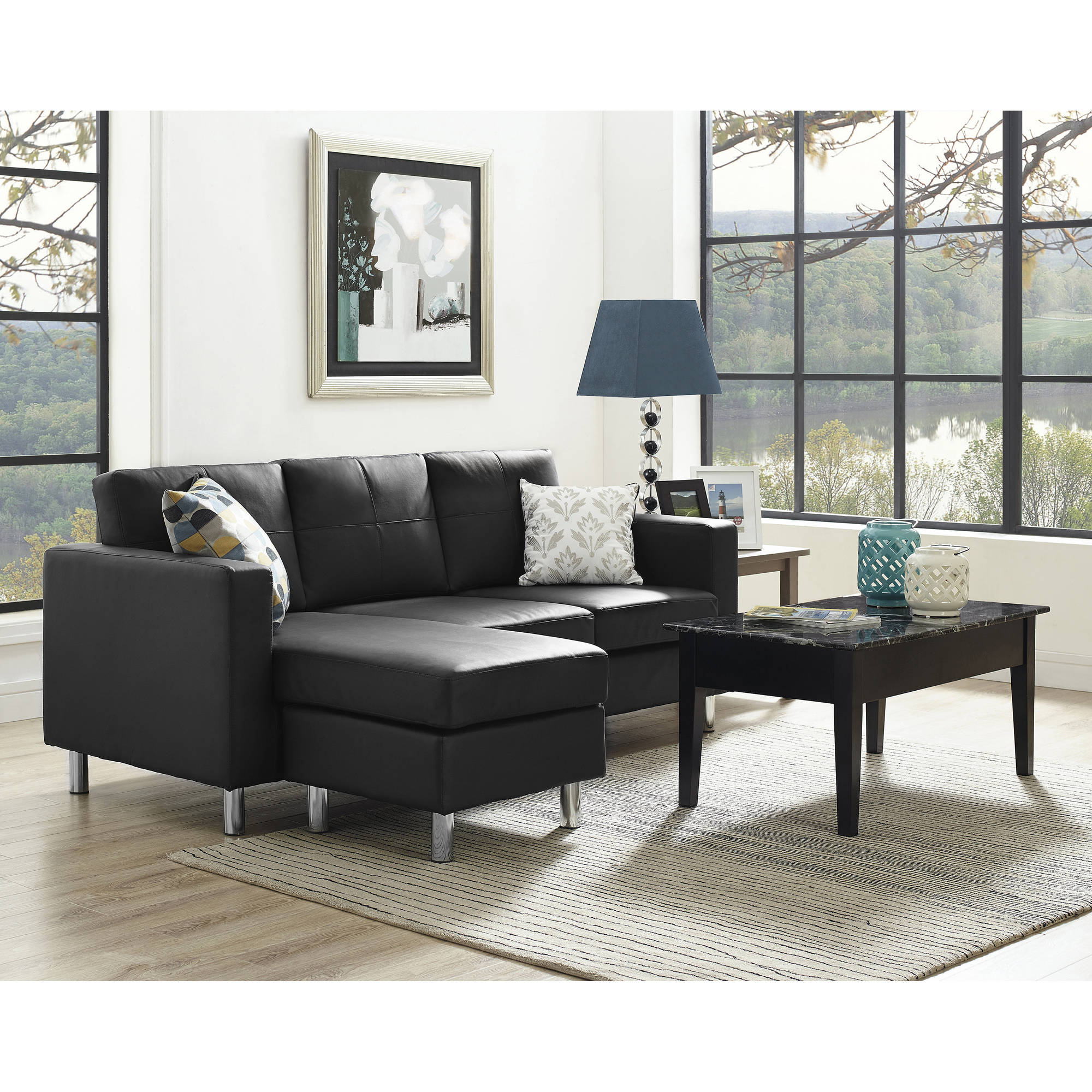 Dorel Living Small Spaces Configurable Sectional Sofa