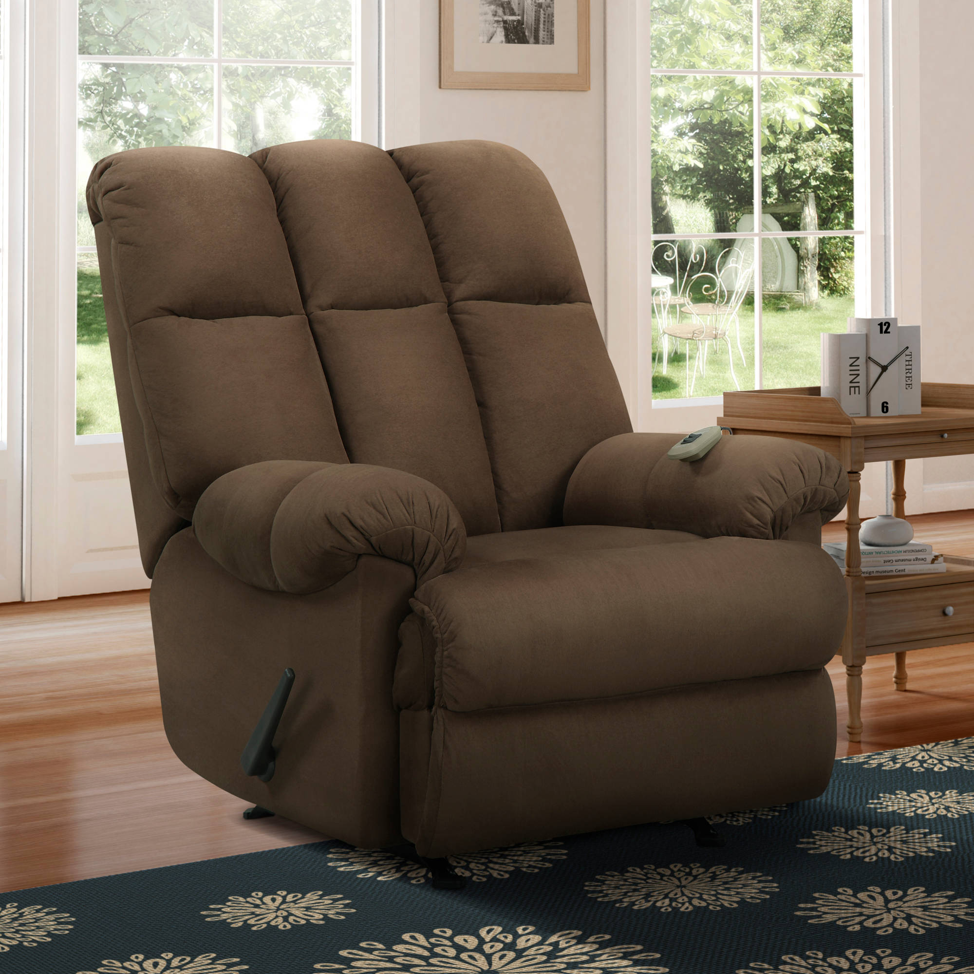 Image is loading Dorel-Living-Padded-Massage-Rocker-Recliner-Multiple-Colors : ebay recliner chair - Cheerinfomania.Com