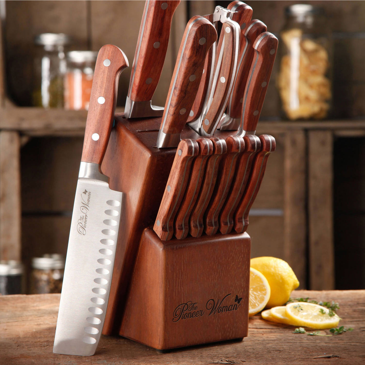 The Pioneer Woman Cowboy Rustic Forged 14 Piece Cutlery