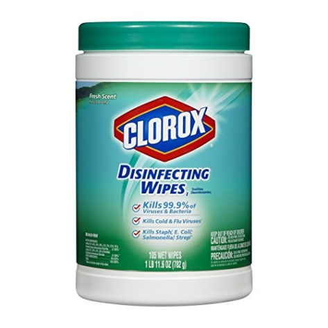 Clorox Disinfecting Wipes Fresh Scent 105 Count Canister