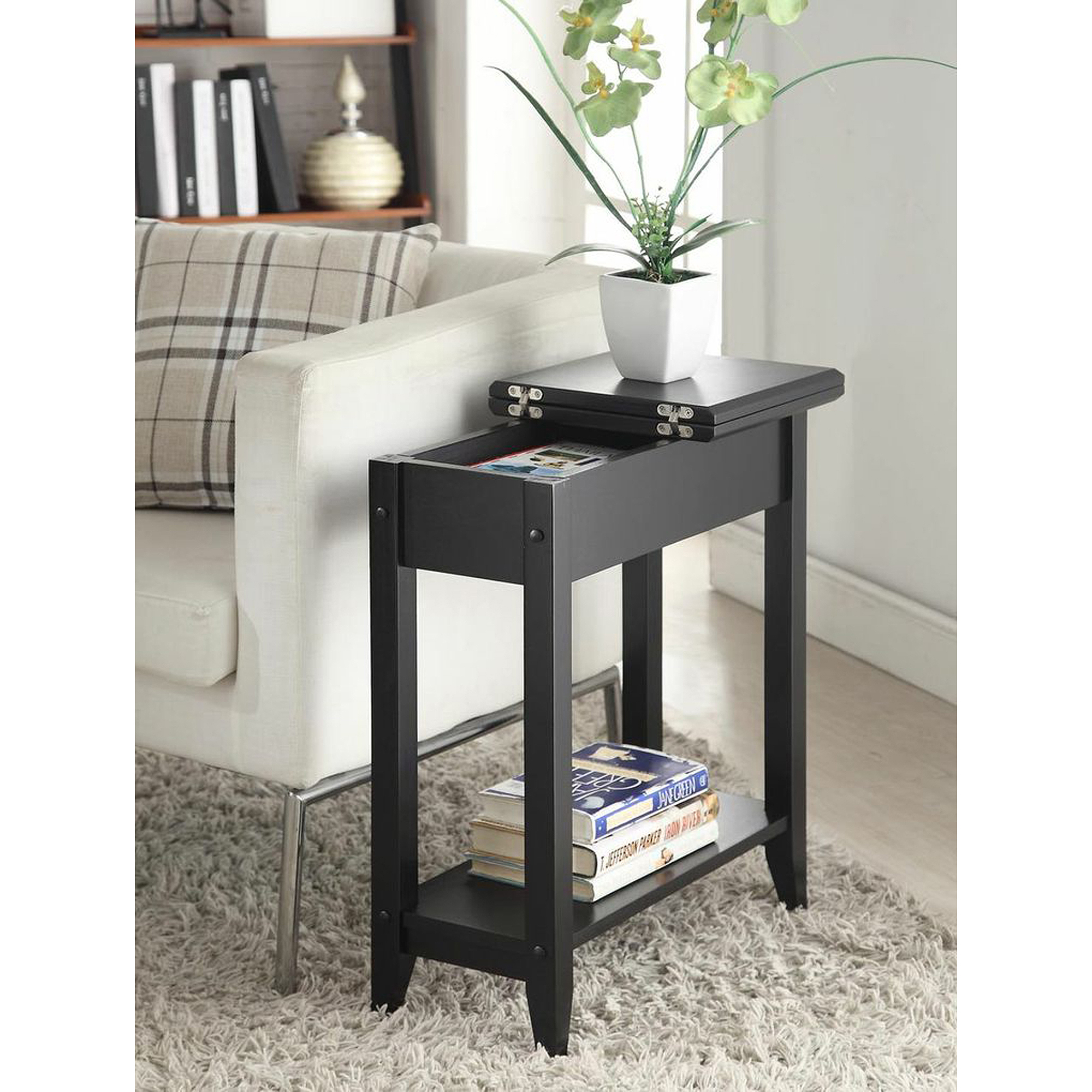 American Heritage Flip Top Tall Side Table Multiple