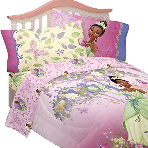 5pc Disney Princess And The Frog Full Bedding Set Tiana Princess And The Frog Sheets