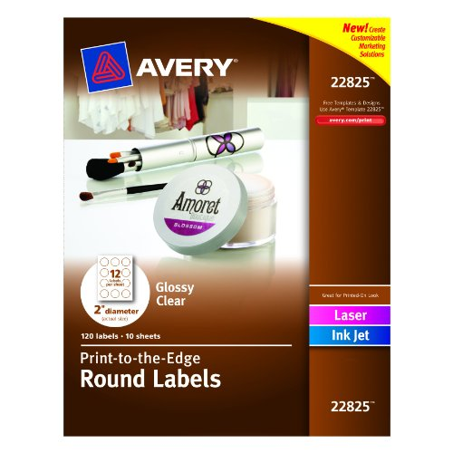 avery 2 round label template - avery print to the edge round labels glossy clear 2