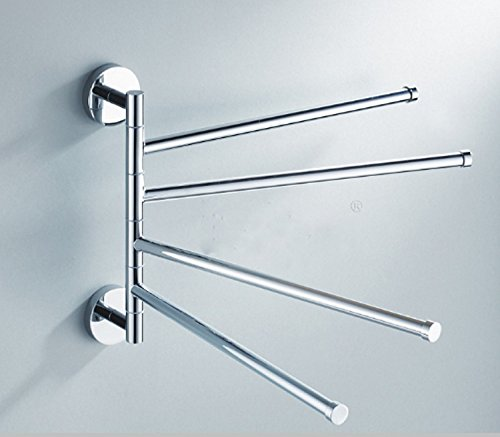 Bekith Wall Mounted Stainless Steel Swing Bathroom Towel